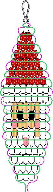 pony bead santa pattern (9952 bytes) might be cute made out of acrylic crystals