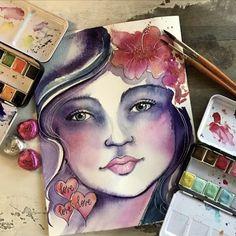 Art Journal #watercolor art by @melanieaprilart #artjournal