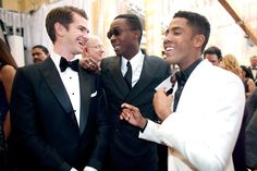 #oscarfashion (L-R) Actors Andrew Garfield, Ashton Sanders and Jharrel Jerome attend the 89th Annual Academy Awards at Hollywood & Highland Center on February 26, 2017 in Hollywood, California.