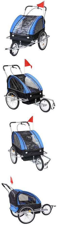 Trailers 85040: Bike Trailer Blue Instep 2 Seat Child Bicycle Carrier Stroller Cart Folding New -> BUY IT NOW ONLY: $105 on eBay!