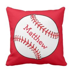 Baseball Square Throw Pillow  sc 1 st  Pinterest : baseball paper plates - pezcame.com