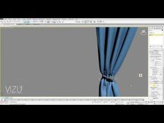 Vizu-How to model a curtain in 3ds Max with cloth modifier - YouTube