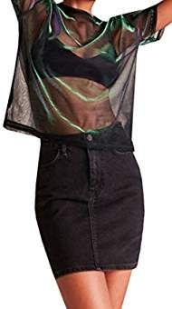 33c22bc24cf7da Amazon.com  coachella clothing. Pink Mesh TopSheer ...