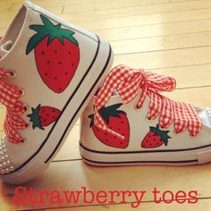 Strawberry Shoes | Strawberry shoes forever ️ | STRAWBERRIES | Pinterest