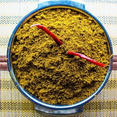 """""""Goda Masala"""" is a native spice blend of Maharashtrian cuisine. It is added in various recipes like 'Cluster bean veg preparation', Usal and Masale Bhat Homemade Spice Blends, Homemade Spices, Homemade Seasonings, Spice Mixes, Masala Powder Recipe, Masala Recipe, Podi Recipe, Masala Spice, Garam Masala"""