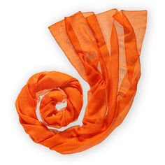 Hermès Plume - Stoles featuring polyvore fashion accessories scarves hermes orange sciarpe hermes scarves hermès orange scarves feather scarves hermes shawl