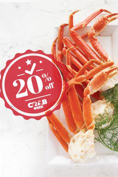 There's no reason to feel crabby because Crab Week is here! Order any crab🦀 dish right now and get 20% off with promo code CRABWEEK!  #LobsterGram #CrabWeek Lobster Gram, Lobster Pot Pies, Crab Legs For Sale, Frozen Lobster Tails, Shrimp Cocktail Sauce, Maryland Style Crab Cakes, Alaskan King Crab, Filet Mignon Steak, Crab Dishes