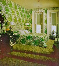 Better Homes and Gardens, dated 1970 to 1973. Can you still get wallpaper that matches the bedspread?