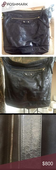 Balenciaga Crossbody City Bag Black crossbody Balenciaga City bag. Purchased in 2013 from Barneys, well-loved but in very good condition. Balenciaga Bags Crossbody Bags