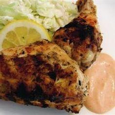 Grilled Lemon Yogurt Chicken Allrecipes.com Recipe for Jonah's birthday