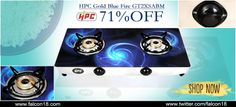 Make your cooking experience an enjoyable one with the help of HPC Gold Blue Fire GT2XS ABM blue fire #gasstove.  The designer look is classy!  Buy online and avail 71% off:- http://www.falcon18.com/HPC-Gold-Blue-Fire-GT2XSABM.htm?1012799/hpc/22001596/d22