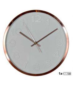 Reloj de pared aluminio cobre de 30 cm