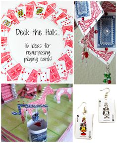 Deck the Halls ... and make gifts with old playing cards ...