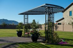 Image result for wrought iron arbor dome
