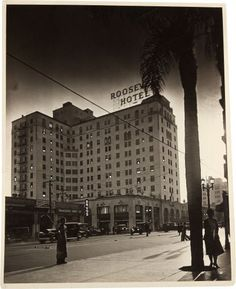A Rare Black and White Photograph of The Hollywood Roosevelt Hotel, Circa 1927