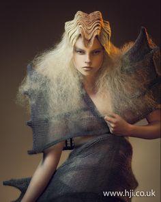 Indria S, avant garde hair artist.