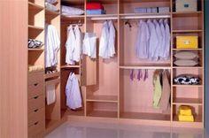 L shape walk-in closet wardrobe design Wardrobe Door Designs, Wardrobe Design Bedroom, Wardrobe Doors, Wardrobe Closet, Closet Designs, Men Closet, Closet Doors, Small Closet Design, Small Master Closet