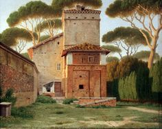 Christoffer Wilhelm Eckersberg - The Gatehouse in the Park of Villa Borghese, Rome, 1816.JPG (4752×3802)