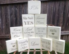 Table Signs -  Bridal Shower Decor, Wedding Reception Table Decor,  5.5x5.5inch signs - ONE or TWO Sided -  Wedding Favors,  Reception Signs