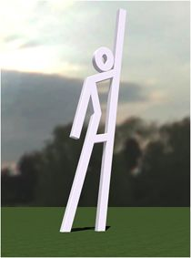 """""""EvacuSpots"""" using public art to visually mark the path of the hurricane evacuation route in New Orleans."""