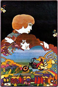 60s psychedelic love art illustration