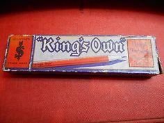 """vintage """"kings own"""" cardboard pencil box"""