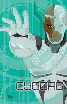 Cyborg - Justice League Series Created by Mike Mahle DC Comics / Teen Titans Dc Comics Heroes, Dc Comics Characters, Dc Comics Art, Comic Book Heroes, Comic Books Art, Comic Art, Comic Pics, Book Characters, Book Art