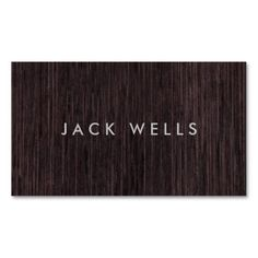 Simple Cool Dark Bamboo Wood Grain Rustic. Rustic woods #businesscards. A sorted collection of aged reclaimed #wood and #shabby chic style designs. Great for for creative professionals ranging from #interior designers carpenters. The Zazzle business cards in this board are fully customizable and can be upgraded to several different premium cards stocks and sizes. Upload your own logo, photo, or graphic, or use a pre-existing template.