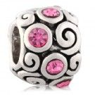 October Birthstone Wave Knot Round Charms Fit Pandora