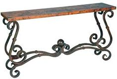 Top Iron Sofa Tables With Wrought Iron Console Tables 4 Image 2 of 7 Wrought Iron Console Table, French Console Table, Wrought Iron Wall Decor, Iron Furniture, Table Furniture, Furniture Ideas, Rod Iron Decor, Stainless Steel Furniture, Sofa Tables