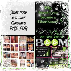 If you join now for $99 you can earn money and save towards Christmas. I know my Christmas is going to be covered from my itworks pay. Knowing i don't have to stress over that is a relief .. If you have been thinking about this message me lets talk !! www