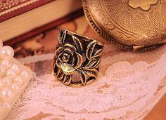 Cheap Retro Style Elegance Rose Pattern Ring | Everbuying.com