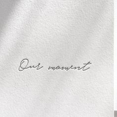 """This is """"Our Moment"""" - Letterpress hand lettering. Wedding words by Inku Press. Letterpress Wedding Invitations, Wedding Stationary, Wedding Caligraphy, Wedding Typography, Wedding Letters, Wedding Themes, Wedding Cards, Wedding Venues, Wedding Quotes"""