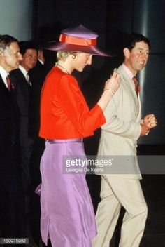 November 7, 1989: Prince Charles & Princess Diana arrive in Hong Kong after their visit to Indonesia & were greeted  by Sir David Wilson, Hong Kong Governor. Later they are given a demonstration of dragon dancing at a welcome ceremony.