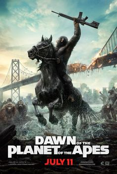 The 'Dawn of the Planet of the Apes' poster is EPIC.  Check it out at www.CutPrintFilm.com #DawnofthePlanetoftheApes #poster