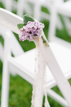 <3 LILAC aisle decoration <3 (Floral Design: Stylish Stems) - Vintage English Garden Wedding from Morning Light by Michelle Landreau