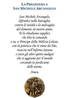 A San Michele Arcangelo preghiere Roman Church, San Michele, Words, Christ, Sink Tops, Christian Prayers, Christians, Thoughts, Prefabricated Home