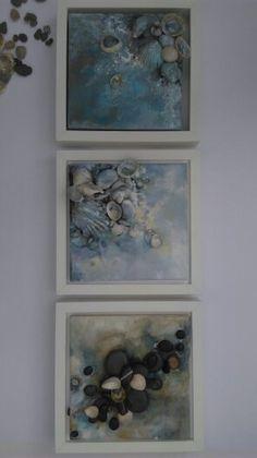 Contemporary art Sea story 8x8 Home decor Canvas art
