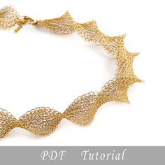 Wire crochet  pattern of INFINTY necklace , wire crochet PDF tutorial , wire work instructions , DIY crochet ebook by Yoola