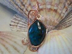 Wire Wrapped Pendant Malachite Chrysolla Gemstone Artisan Handcrafted OOAK | eBay