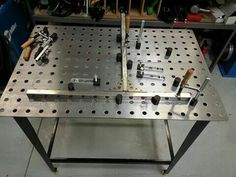 Metal fabrication table