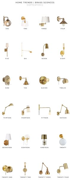 brass sconces look for less, gold sconces, brass wall lamps, gold wall lamps, copycatchic luxe livin Sconces Living Room, Bathroom Wall Sconces, Bedroom Lamps, Living Room Lighting, My Living Room, Wall Sconce Lighting, Wall Sconce Bedroom, Condo Bedroom, House Lighting