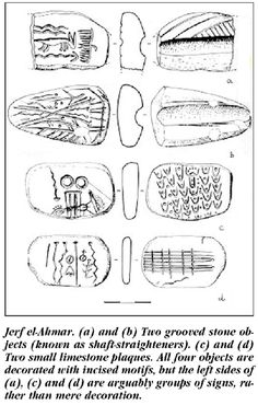 jerf-el-ahmar Syria pictograms estimated to be 9000 years old BCE). Or about 4000 years before the earliest Sumerian writing. Oldest pictogram from the sumerian Younger Dryas, Prehistoric Period, Brown Recluse Spider, Early Humans, Hunter Gatherer, Political System, Sumerian, Iron Age, Old Stone
