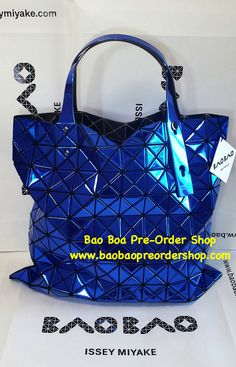 """Platinum-2"" in Blue color. Another premium line of Bao Bao handbags. Its specialty comes with the mirror-liked triangular pieces on the bag, giving it a premium look! >>To Order, please message/email via the platform below<< ♥️FB Inbox: https://www.facebook.com/messages/baobaohandbags ♥️Email: welovebaobao@gmail.com"