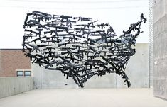 'Artist Michael Murph has created Gun Country, a site specific installation that consists of 130 toy guns for the open art competition ArtPrize this year. Land Art, Art Actuel, Blog Art, Michael Murphy, Arte Country, Usa Country, Web Design, Open Art, Art Competitions