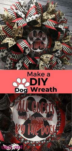 Paw-TASTIC! How adorable is this DIY Dog wreath? Made with dog lovers in mind, this adorable DIY wreath is perfect for your home or for anyone who loves their furry four-legged friends! Learn how to easily create this DIY Dog Lovers Wreath with a Unique in the Creek wreath board in an hour! #uitc #dog #dogdecor #diywreath Dog Wreath, Frame Wreath, Kids Party Decorations, Baby Shower Decorations, Thanksgiving Projects, Diy Dog, Mason Jar Crafts, How To Make Wreaths, Dog Food