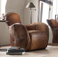 Equestrian Saddle Chair at Restoration Hardware Equestrian Bedroom, Equestrian Decor, Western Decor, Equestrian Style, Diy Horse, Saddle Chair, Deco Design, Cool Chairs, My New Room