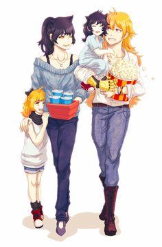 That Bumbleby family at the movies Anime Girlxgirl, Rwby Anime, Rwby Fanart, Yuri Anime, Rwby White Rose, Rwby Yang, Yuri Comics, Rwby Blake, Rwby Bumblebee
