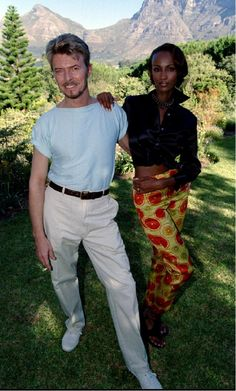 David Bowie and Iman in Capetown
