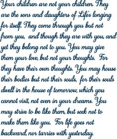 Khalil Gibran Quotes On Sons. QuotesGram by @quotesgram